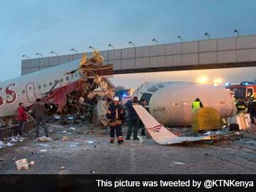 Boeing 737 crashes while landing in Russia, all 50 on board killed
