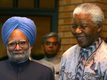Prime Minister Manmohan Singh registers condolence message for Nelson Mandela