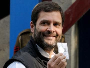 In line to vote, Rahul Gandhi spoke to this first-time voter