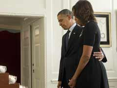 Obamas observe silence on Newtown massacre anniversary