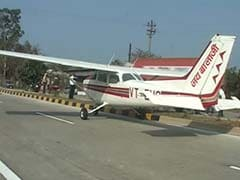 4-seater plane lands on national highway in Madhya Pradesh