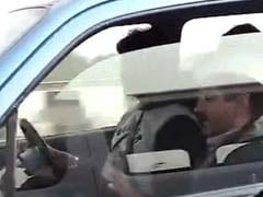 Guess who's in the next car? Delhi's Chief Minister Arvind Kejriwal
