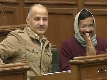 Delhi with Arvind Kejriwal. Aam Aadmi Party wins trust vote