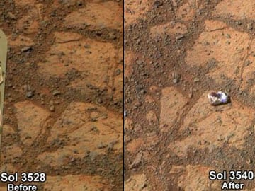 Mystery white rock inexplicably appears near NASA Mars rover