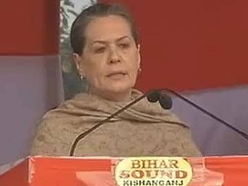 Sonia Gandhi addresses rally on Nitish's turf: highlights