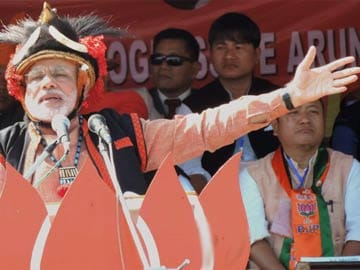 Forget about your 'expansion' plans, Narendra Modi tells China in a rally in Arunachal Pradesh