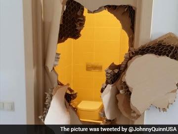 Sochi Olympics Us Athlete Johnny Quinn Breaks Down Door