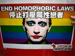 China gay activists' message for Vladimir Putin on Valentine's Day