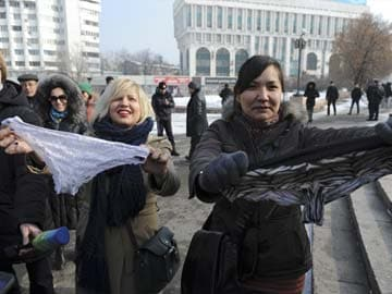 Russian women fight lace lingerie ban