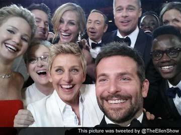 Host Ellen DeGeneres' star-studded Oscars 'selfie' goes viral