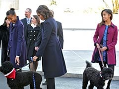 Barack Obama 'stuck with two dogs' as Michelle away in China