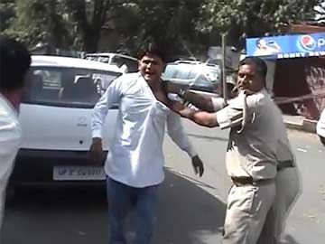 Violence at Congress' Lucknow office by mob led by disgruntled ticket-seeker