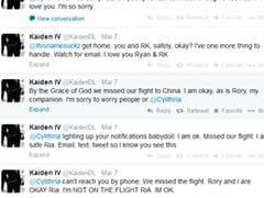 A missing Malaysia Airlines plane and emotional reunion, played live on Twitter
