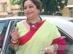 Protest against candidature of Kirron Kher from Chandigarh