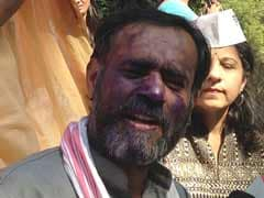 AAP leader Yogendra Yadav's face smeared with ink at Delhi event