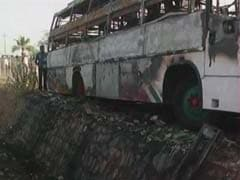 Six killed as bus catches fire in Karnataka