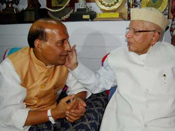 Congress veteran ND Tiwari endorses Rajnath Singh