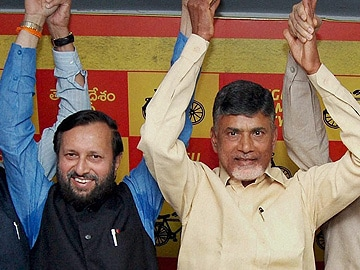 BJP announces alliance with Chandrababu Naidu's TDP