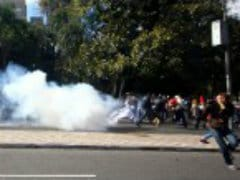 Police Fire Tear Gas at Protest Outside World Cup Match