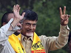 TDP Chief Chandrababu Naidu Invites Telangana Chief Minister KCR to his Swearing-in Ceremony
