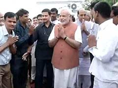 Prime Minister Narendra Modi Meets BJP Workers, Thanks Them for Party's Victory