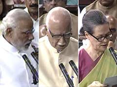 PM Narendra Modi Leads Newly-Elected MPs as They Take Oath in Lok Sabha