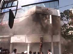 On Bangalore's MG Road, Gold Flung Out in Plastic Bags After Fire in Jewellery Showroom