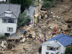 Japan Landslide Death Toll Rises to 46