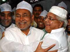 Friends Hoping For Benefits. Lalu and Nitish Campaign Together