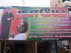 Poster in Tamil Nadu Shows Rajapaksa Apologising to Jayalalithaa