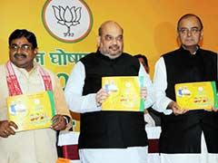 BJP Leaders Amit Shah, Arun Jaitley Release Manifesto for Jharkhand Polls