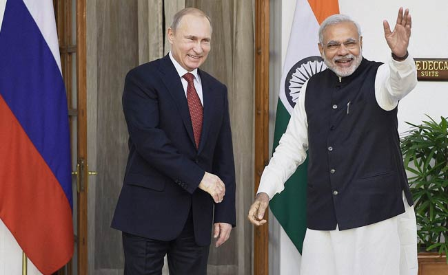 Pm Narendra Modi Meets President Vladimir Putin As Both