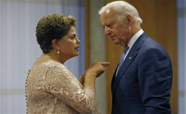 US Vice President Joe Biden Meets Brazilian President Dilma Rousseff