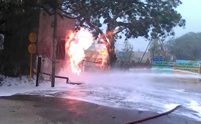 In South Delhi, Gas Pipeline Catches Fire