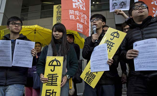 Hong Kong Student Leaders Charged Over Pro-Democracy Protests