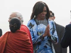 When in India... Michelle Obama Lands in Indian Designer's Clothes