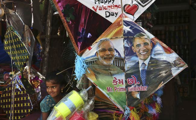 'Modi-Obama' Kites a Hit in Gujarat this Makar Sankranti