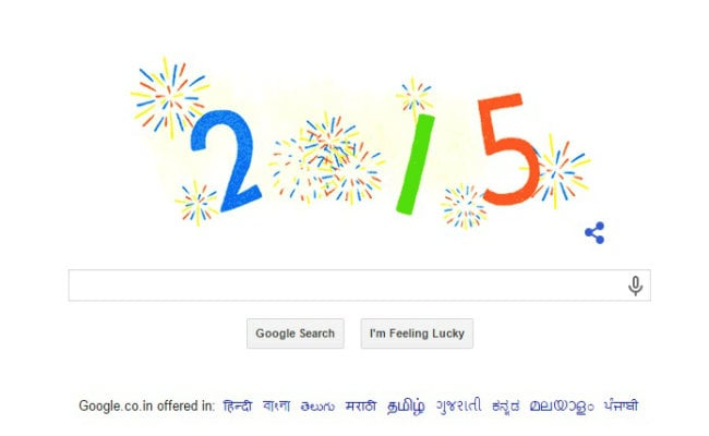 Google Doodle Welcomes 2015 With Fireworks