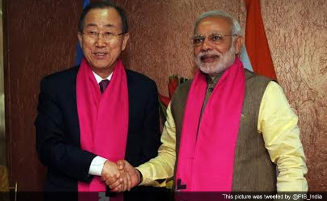 PM Narendra Modi Discusses Climate Change, Clean Energy with UN Chief Ban Ki-moon