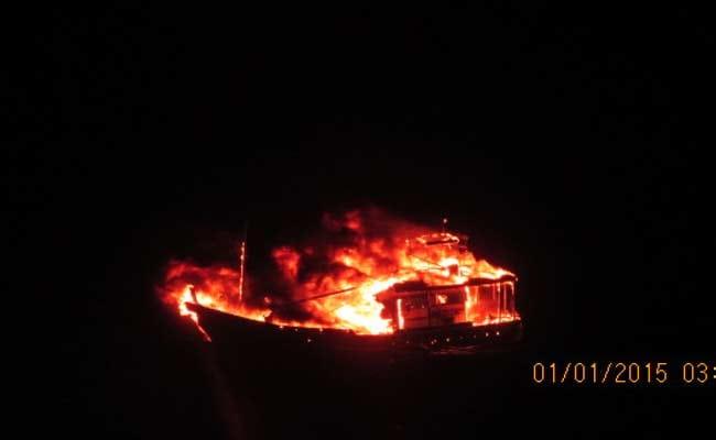 Pakistani Boat Blows Itself Up at Sea Off Porbandar