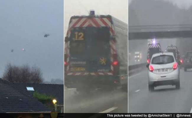Charlie Hebdo Attack: Police, Helicopters Rush to Corner Suspects