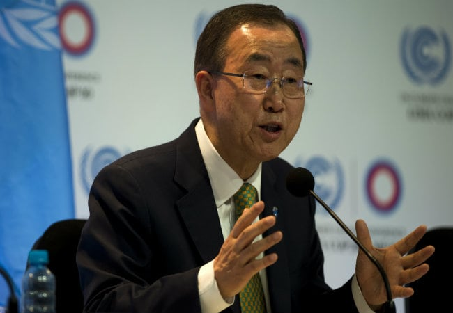 UN Chief Ban Ki-Moon Says Palestine Will Join International Court on April 1