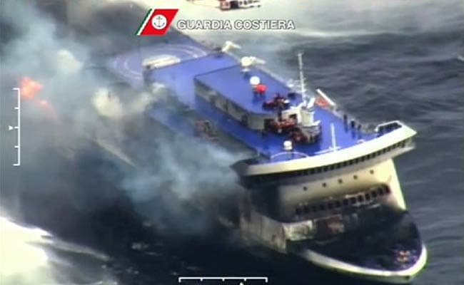 Gales Keep Blaze Ferry Death Toll a Mystery