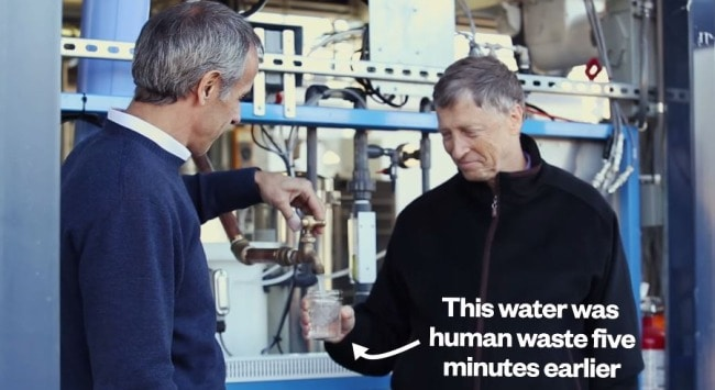 The Internet's All Over This Video of Bill Gates Drinking Water Made from Poop