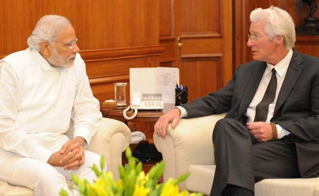 Hollywood Actor, Activist Richard Gere Meets PM Narendra Modi