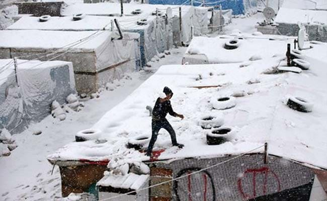 Snow Falls in Middle East as Strong Winter Storm Strikes