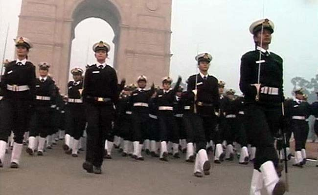 At 3 am, Women Officers Practice. The Goal is Republic Day.