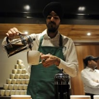 Starbucks Opens Flagship Store in New Delhi