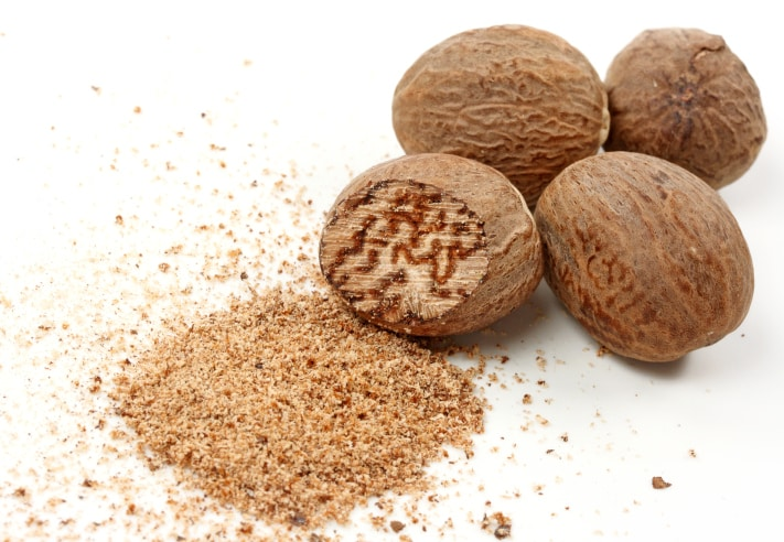 Nutmeg for Soil meaning in hindi