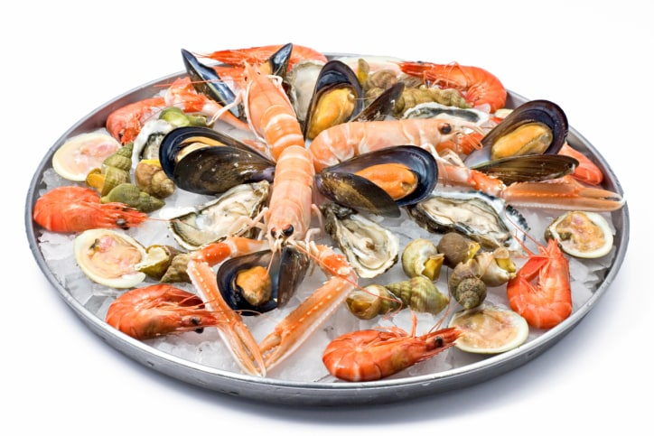 Shellfish in english shellfish recipes for Animals that are included in the cuisine of seafood